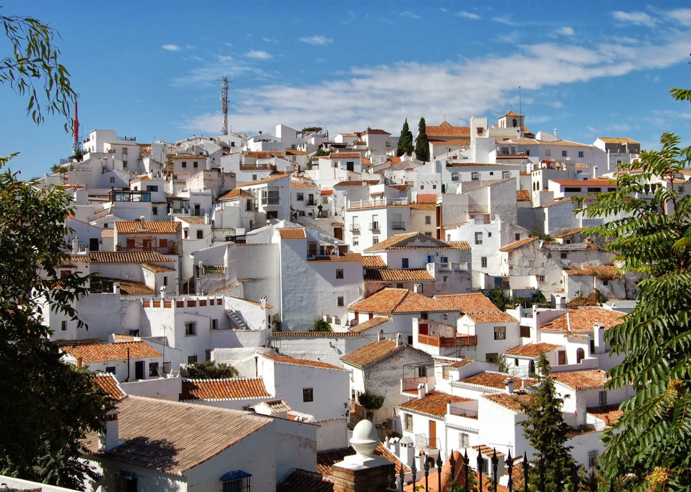 White washed village of Comares